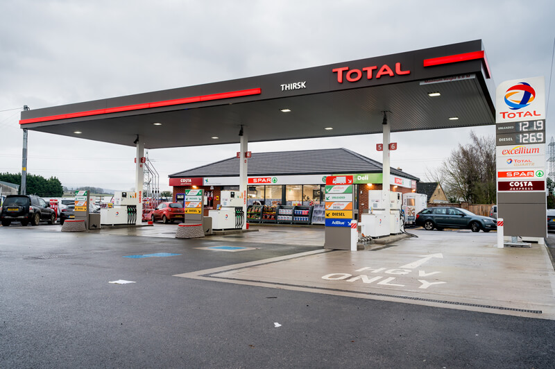 total branded service station in the UK